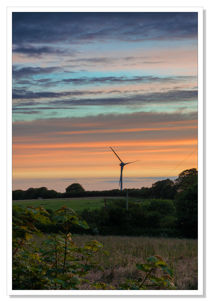 Wind Turbine Sunrise