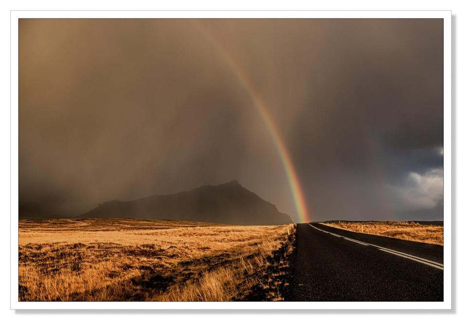 Rainbow, Open Road, Arnarstapi, Iceland