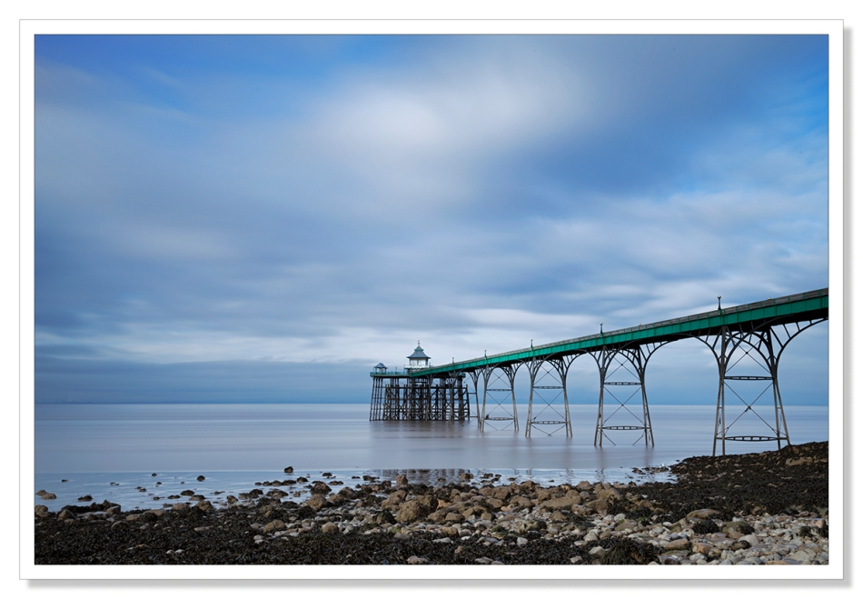 Clevedon Pier in north Somerset on a cold winte's afernoon