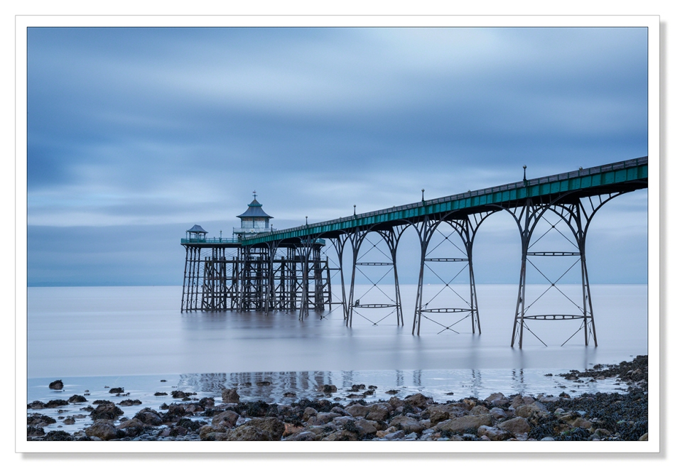 Clevedon Pier on a cold winter's afternoon