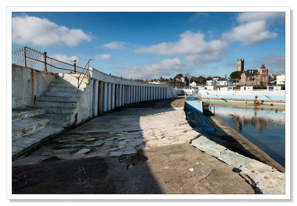 Damage to the Jubilee Pool in Penzance