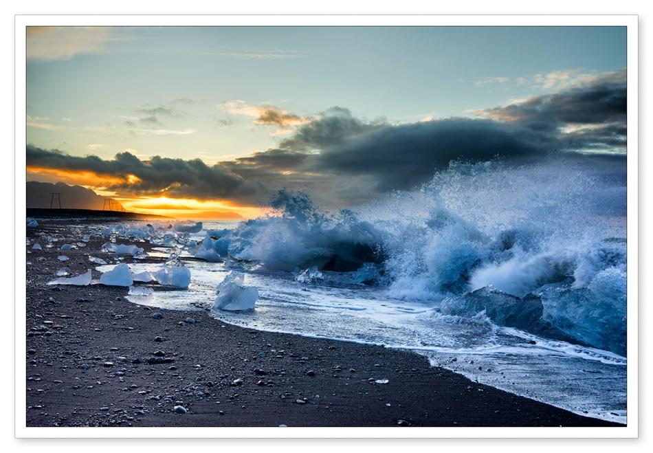 Jokulsarlon, glacial lagoon, Iceland