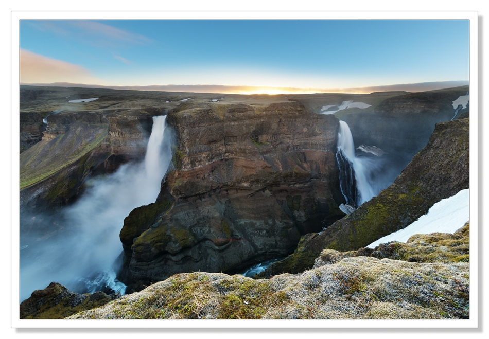 Haifoss, Sunset, Iceland