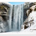 Skogafoss, Iceland, in winter