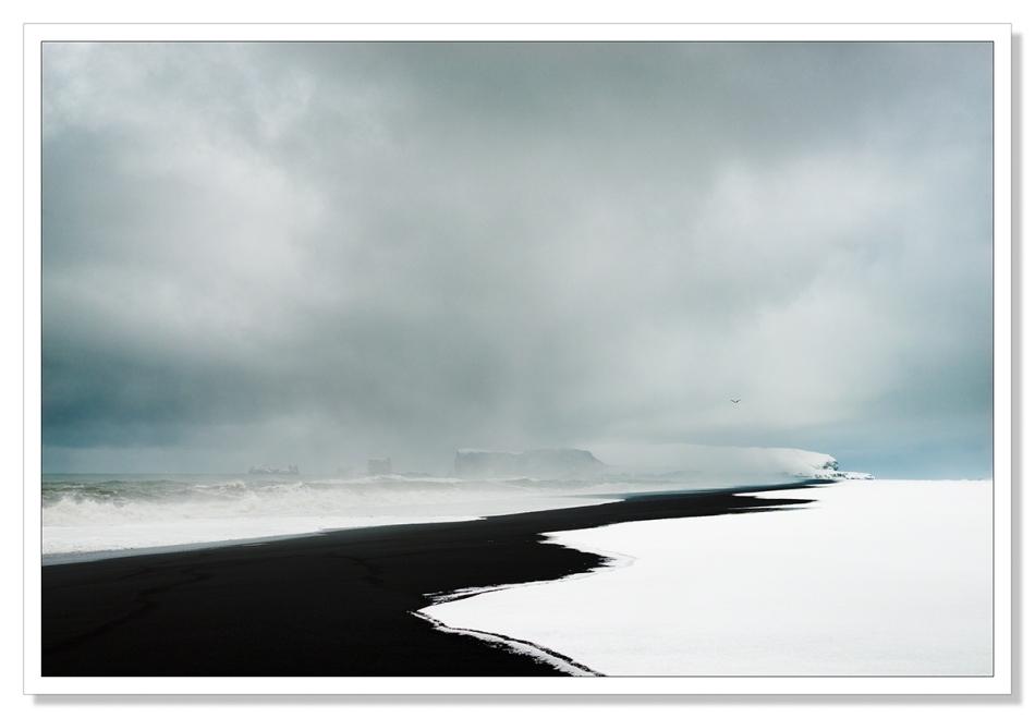 Blizzard at Reynisfjara