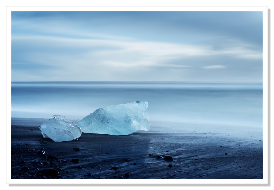 Ice on the beach at Jokulsarlon by Adrian Theze
