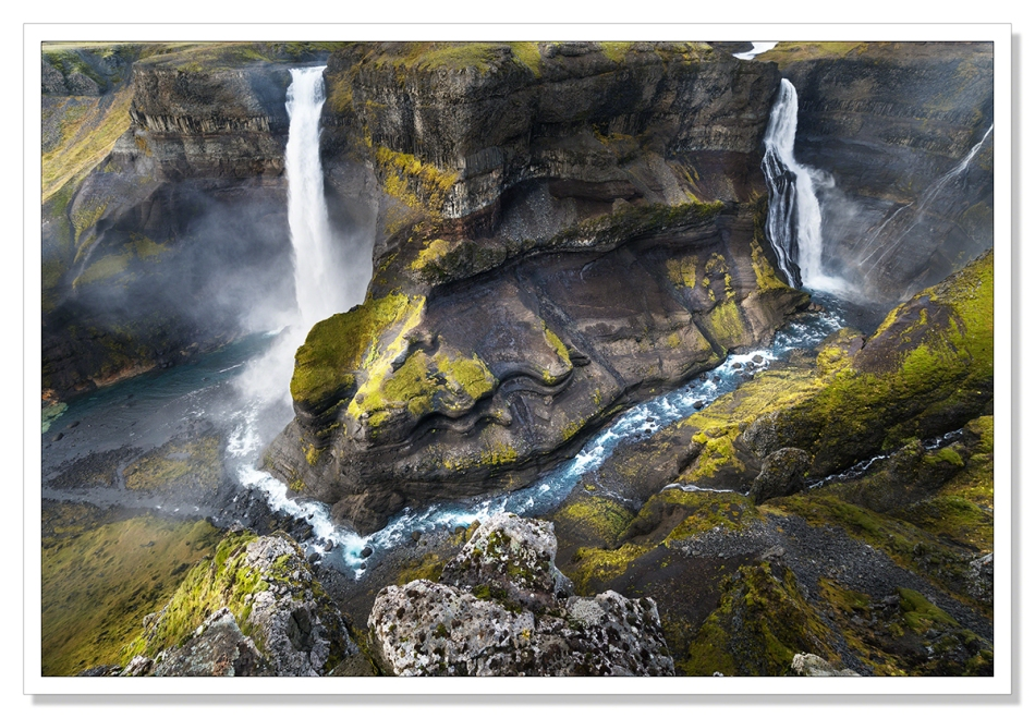 A picture of Haifoss, Iceland's second highest waterfall, by Adrian Theze