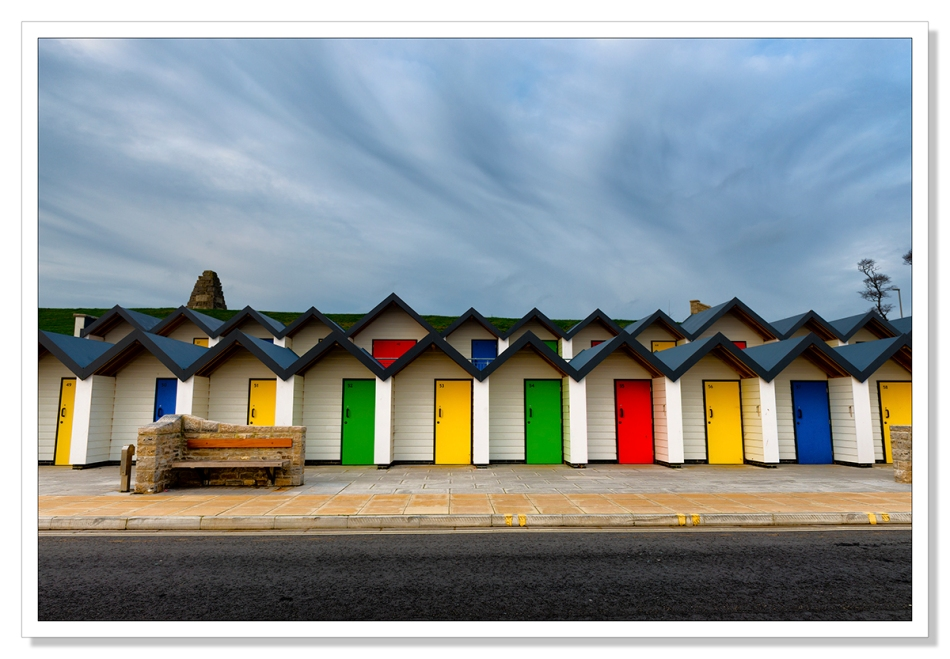 beach huts at Swannage, Dorset, Adrian Theze