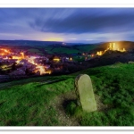Corfe Castle at Christmas by Adrian Theze