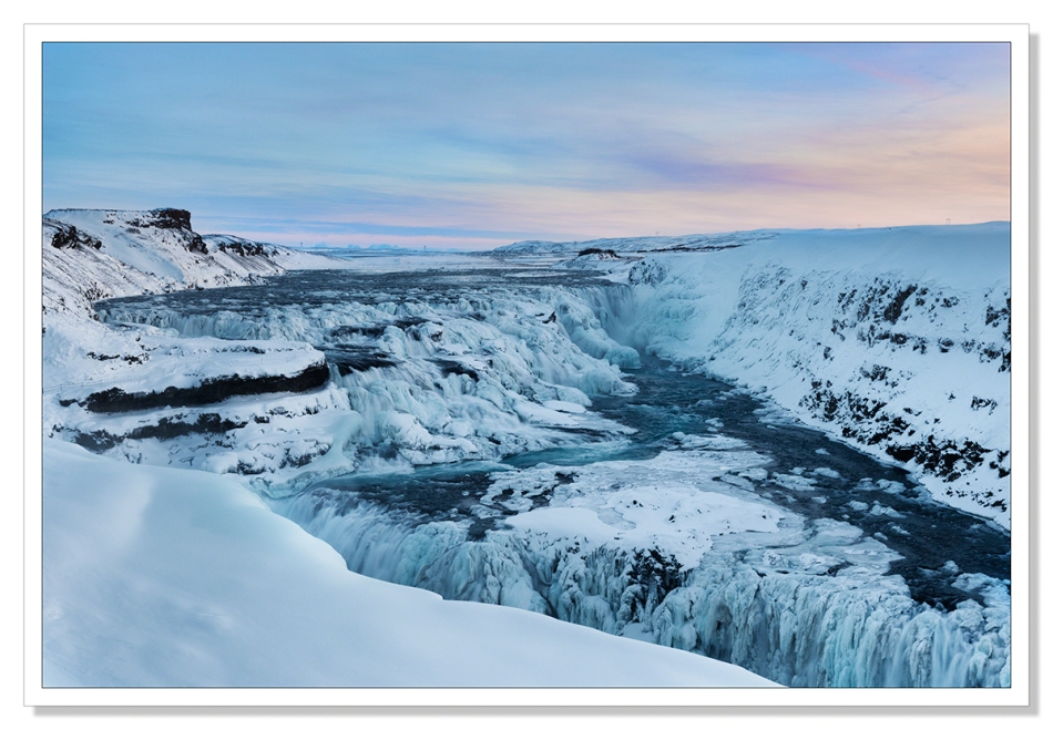 Gulfoss in Winter by Adrian Theze