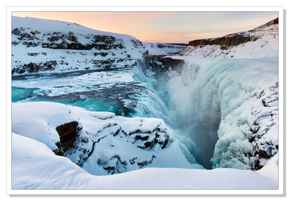 Frozen Gulfoss by Adrian Theze