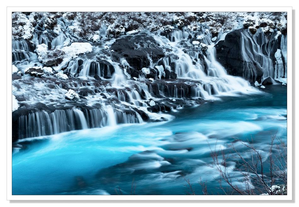 Hraunfossar, Iceland by Adrian Theze