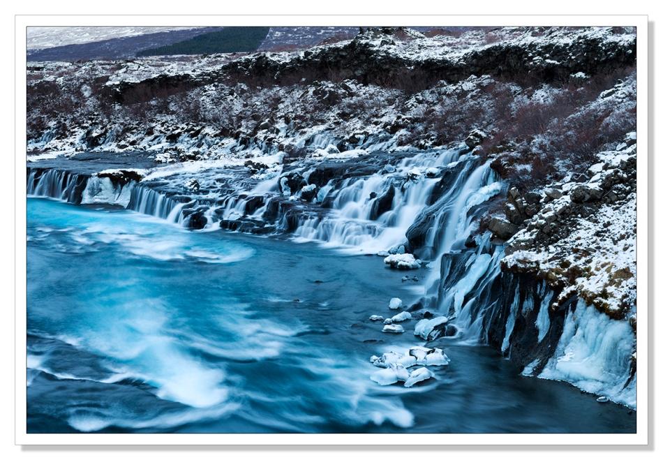 Huraunfossar, Iceland by Adrian Theze