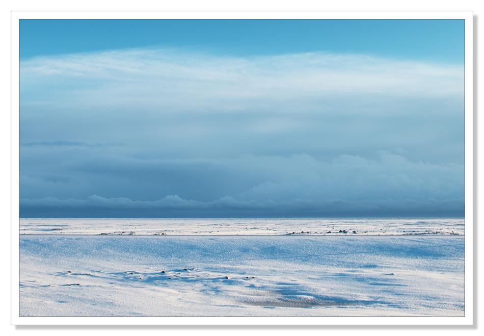 Blue sky landscape, Iceland